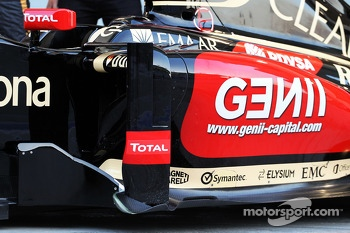 The Lotus F1 E22 is officially unveiled - sidepod detail