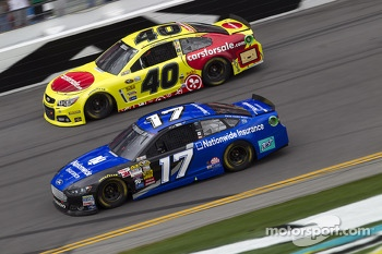Ricky Stenhouse Jr. and Landon Cassill
