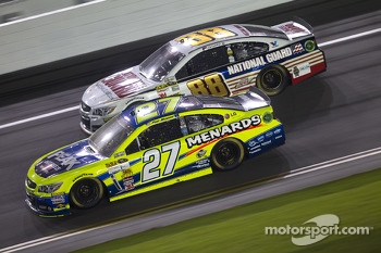 Paul Menard and Dale Earnhardt Jr.