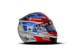 The helmet of Romain Grosjean, Lotus F1 Team