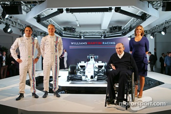Felipe Massa and Valtteri Bottas, Sir Frank Williams, Claire Williams, Williams Martini F1 Team