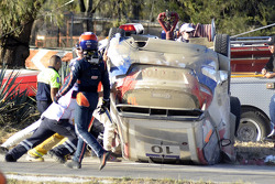 Trouble for Robert Kubica and Maciek Szczepaniak, Ford Fiesta WRC