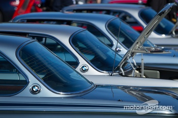 Row of BMW CSLs