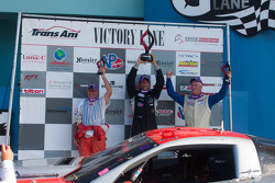 TRANSAM: RJ Lopez, Simon Gregg and Cliff Ebben celebrate on the podium