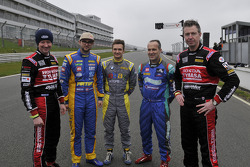 The 5 BTCC Champions Gordon Shedden, Andrew Jordan, Colin Turkington, Fabrizio Giovanardi and Matt Neal who were all in action at Brands Hatch