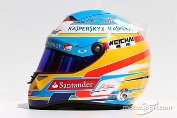 The helmet of Fernando Alonso, Ferrari