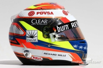 The helmet of Pastor Maldonado, Lotus F1 Team