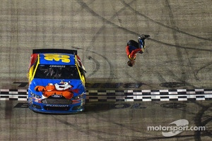 Carl Edwards celebrates