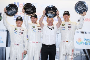 GTLM podium: winners Jörg Bergmeister, Patrick Long, Michael Christensen