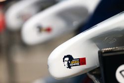 Williams FW36 nosecones with a tribute to Ayrton Senna