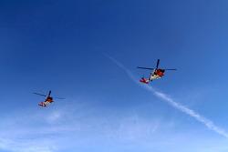 Coast Guard fly-over
