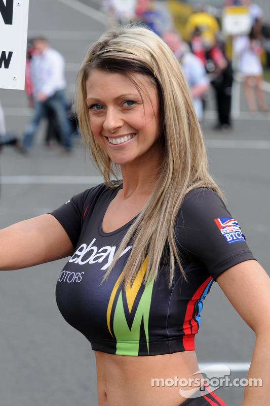 eBay Motors Grid Girl at Brands Hatch  BTCC Photos