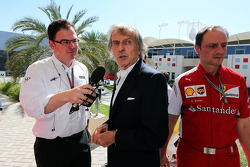 Luca di Montezemolo, Ferrari President with James Allen, Journalist and BBC Radio 5 Live Commentator