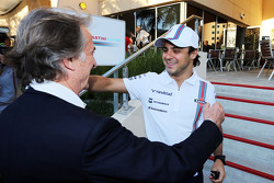 Luca di Montezemolo, Ferrari President with Felipe Massa, Williams