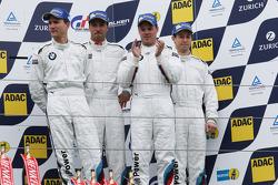 Podium: third place, Dirk Muller, Dirk Werner, Lucas Luhr, Alexander Sims