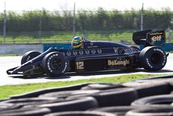 Bruno Senna driving Ayrton Senna's Lotus 98T