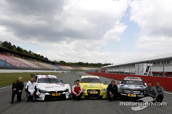 All three Manufactures, BMW M4, Audi RS5 DTM, Merecdes C-Coupe with Volker Strycek DTM Champion 1984; Martin Tomczyk, BMW Team Schnitzer, Mike Rockenfeller, Audi Sport Team Phoenix, Frank Biela DTM Champion 1991;Pascal Wehrlein, Mercedes AMG DTM-Team HWA,