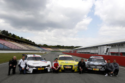 All three Manufactures, BMW M4, Audi RS5 DTM, Merecdes C-Coupe with Volker Strycek DTM Champion 1984; Martin Tomczyk, BMW Team Schnitzer, Mike Rockenfeller, Audi Sport Team Phoenix, Frank Biela DTM Champion 1991;Pascal Wehrlein, Mercedes AMG DTM-Team HWA,
