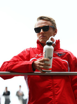 Max Chilton, Marussia F1 Team on the drivers parade.