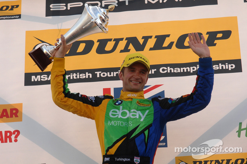 Round 9 Race winner Colin Turkington