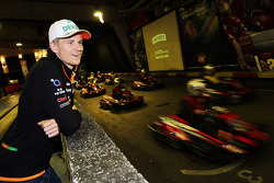 Nico Hulkenberg, Sahara Force India F1 at the Sahara Force India F1 Team Smirnoff Launch Party at a karting circuit in Barcelona
