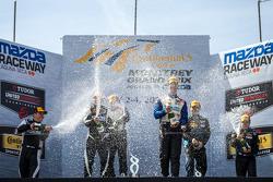 Podium: winners Trent Hindman, John Edwards, second place Eric Curran, Lawson Aschenbach, third place Max Riddle, Kris Wilson