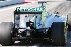 Lewis Hamilton, Mercedes AMG F1 W05 rear wing