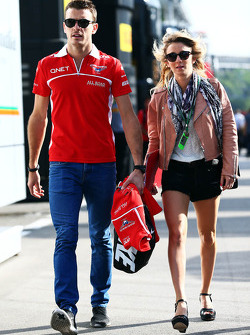 Jules Bianchi, Marussia F1 Team with his girlfriend Camille Marchetti