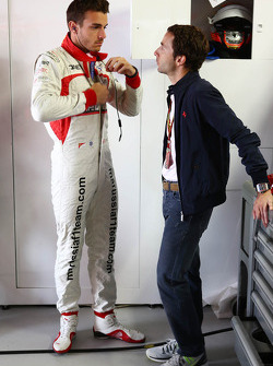 Jules Bianchi, Marussia F1 Team with Nicolas Todt, Driver Manager