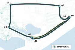 Formula E track layout at Long Beach