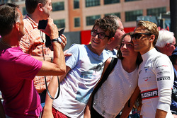 Max Chilton, Marussia F1 Team with fans