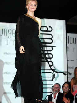 Emilia Pikkarainen, Swimmer, girlfriend of Valtteri Bottas, Williams, at the Amber Lounge Fashion Show