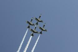 Pre-race fly by