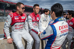 Tom Kristensen, Andre Lotterer and Kazuki Nakajima