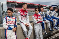 Kazuki Nakajima, Andre Lotterer and Lucas Di Grassi