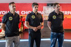 Lotus T129 LMP1 presentation: Christophe Bouchut, Pierre Kaffer and Christijan Albers