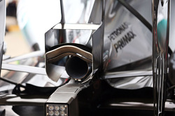 Mercedes AMG F1 W05 exhaust detail