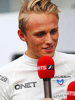 Max Chilton, Marussia F1 Team with Sky Sports F1 TV