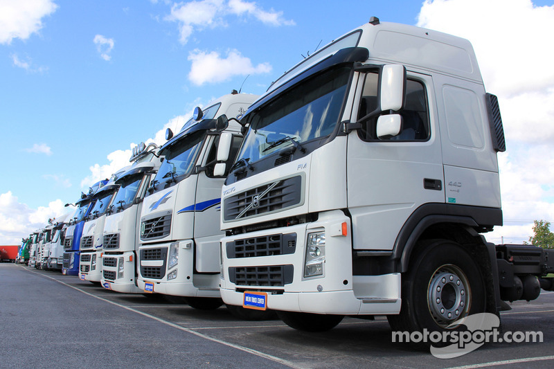 Truck driving at Silverstone