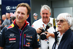 F1: Christian Horner, Red Bull Racing Team Principal with Bernie Ecclestone