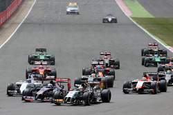 F1: Start of the race, Sergio Perez, Sahara Force India