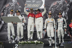 BSS: Podium: race winners Enzo Ide, Rene Rast, second place Thomas Jäger, Dominik Baumann, third place Robert Renauer, Jaap van Lagen
