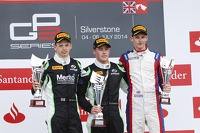 Podium: race winner Richie Stanaway, second place Nick Yelloly, third place Emil Bernstorff