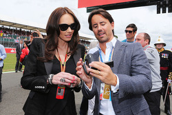 Tamara Ecclestone, with husband Jay Rutland, on the grid