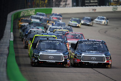 NASCAR-TRUCK: Erik Jones and Darrell Wallace Jr. lead a restart