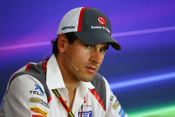 F1: Adrian Sutil, Sauber in the FIA Press Conference