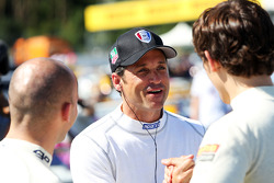 Patrick Dempsey competing in the Porsche Supercup race