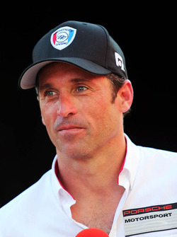 Patrick Dempsey who is competing in the Porsche Supercup race