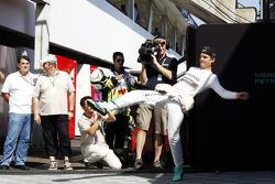 Nico Rosberg, Mercedes AMG F1 plays football