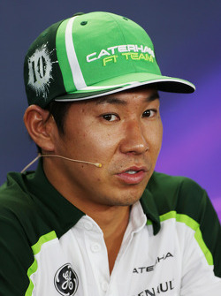 Kamui Kobayashi, Caterham in the FIA Press Conference